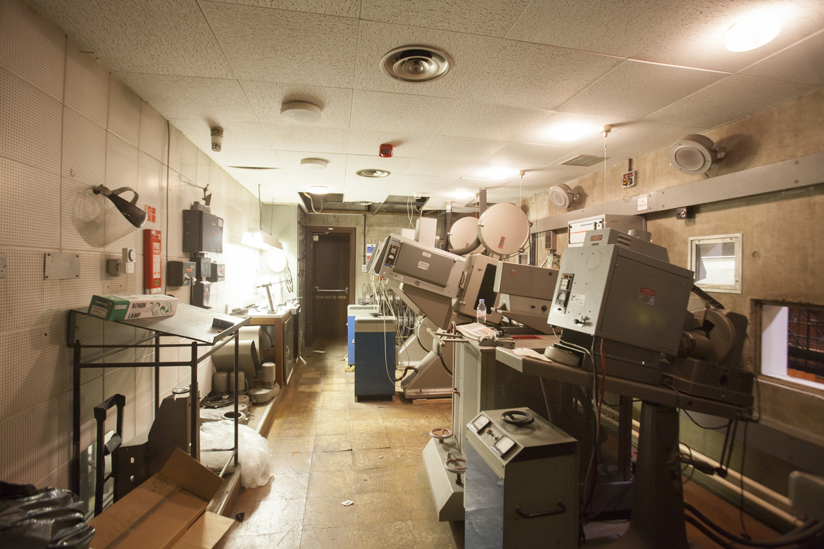 Projection room overlooking Queen Elizabeth Hall, photo: © Sophia Schorr-Kon, courtesy National Trust