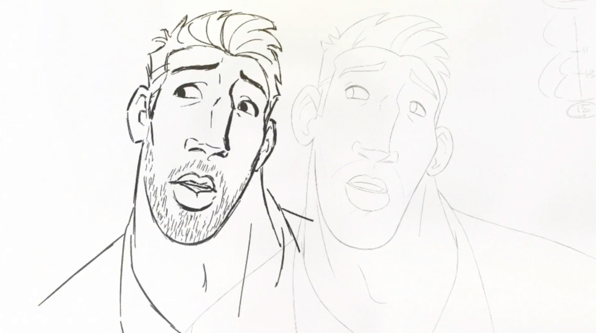 Drawing of England rugby captain Chris Robshaw for the O2 ad