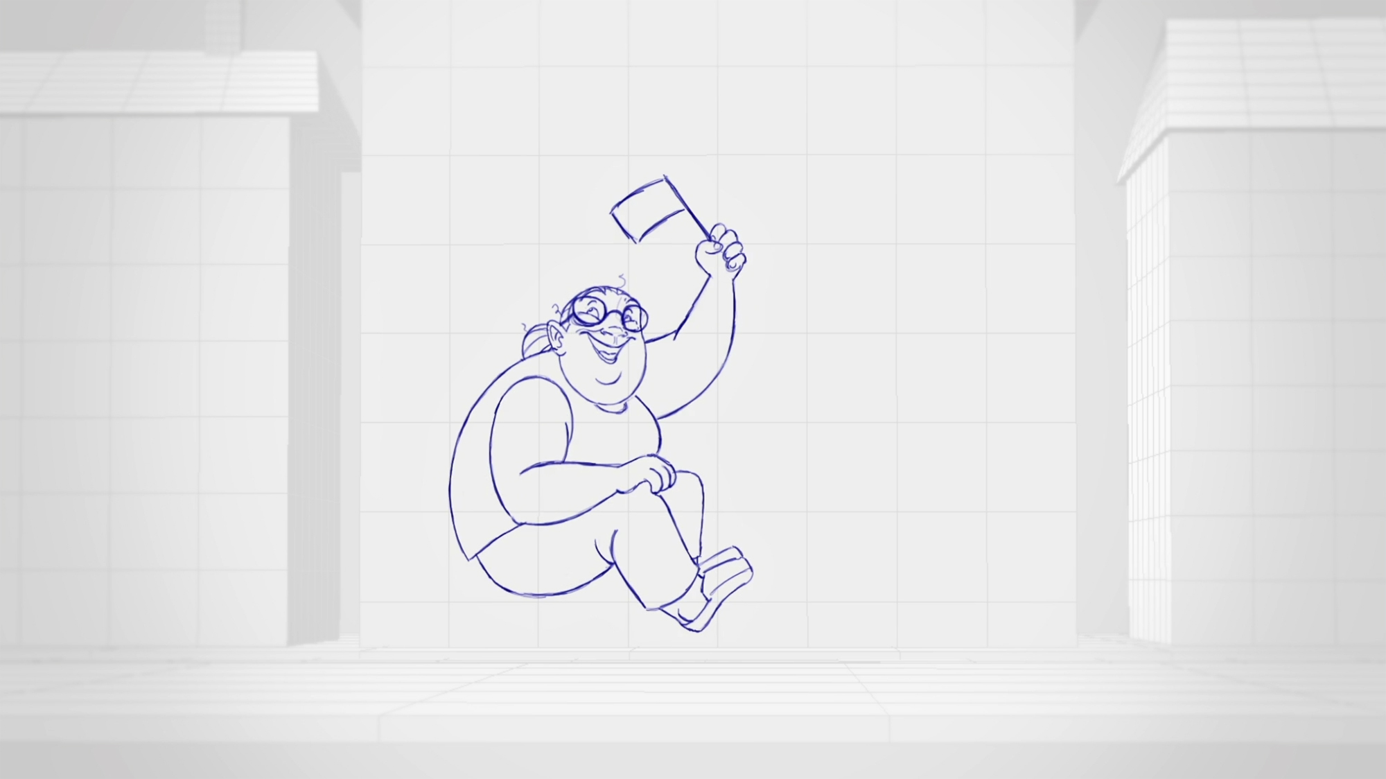 Initial drawing for the O2 England rugby ad