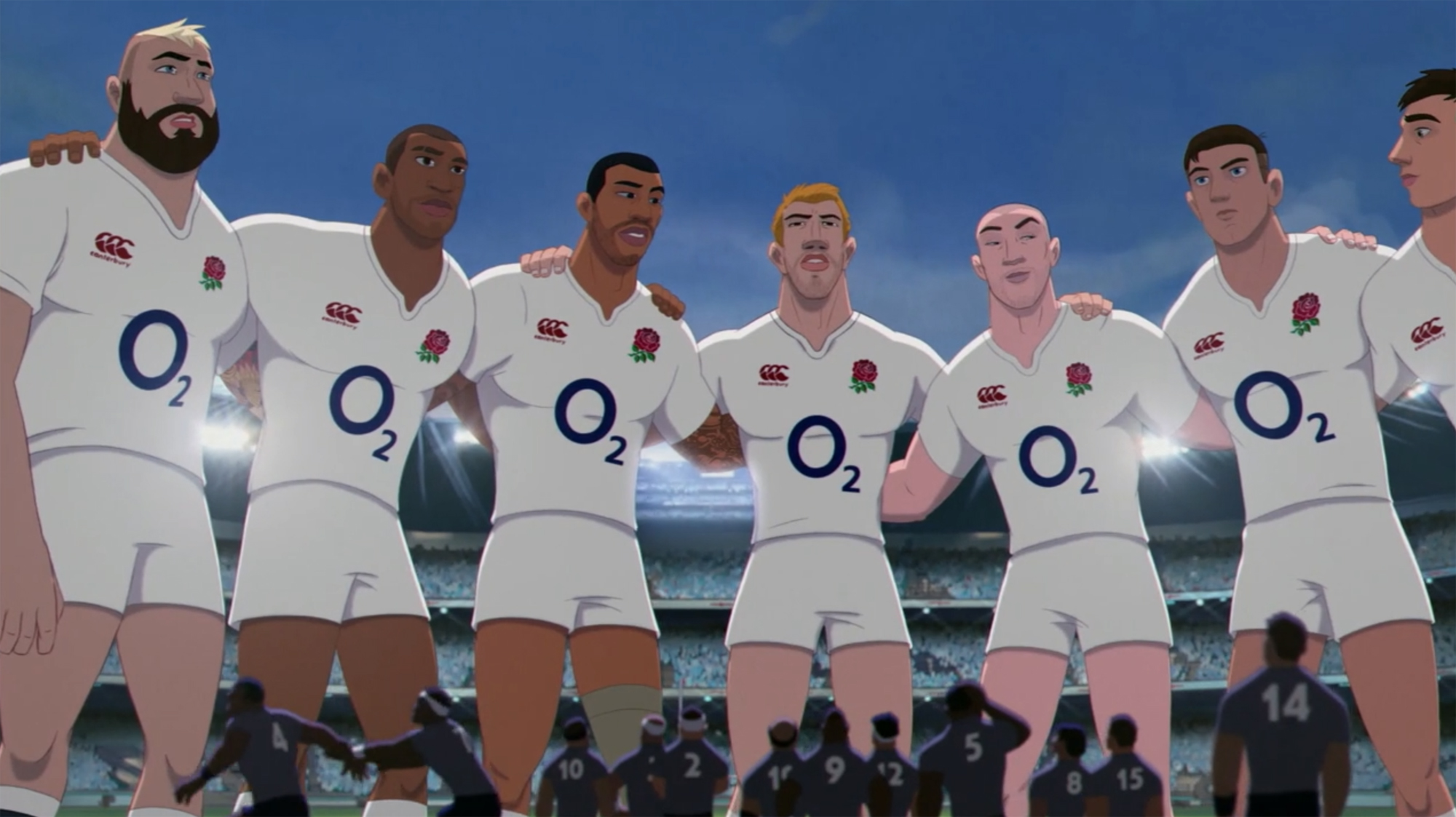 The England team as they appear in O2's ad