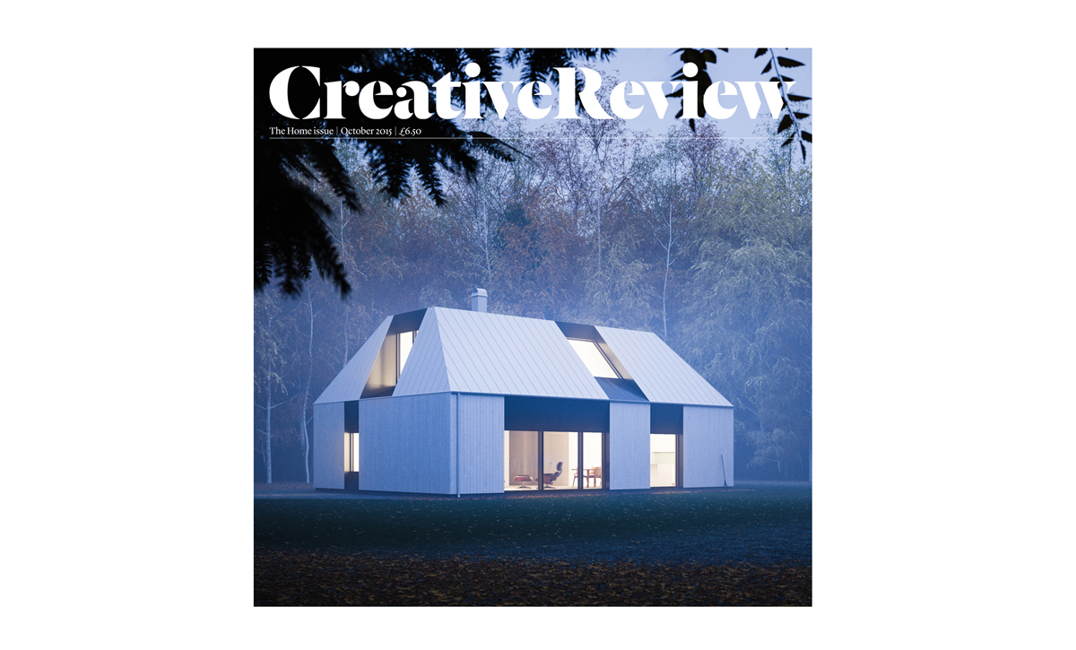 Creative Review October 2015: the Home issue. Visualisation of Claesson Koivisto Rune-designed house by Peter Guthrie for Swedish builder Fiskarhedenvillan