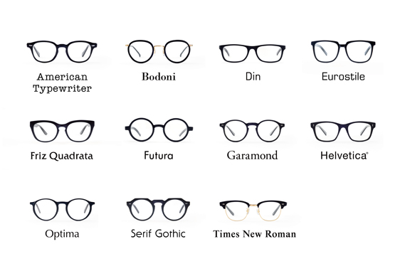 Wear Your Fave Font On Your Face With Type Glasses
