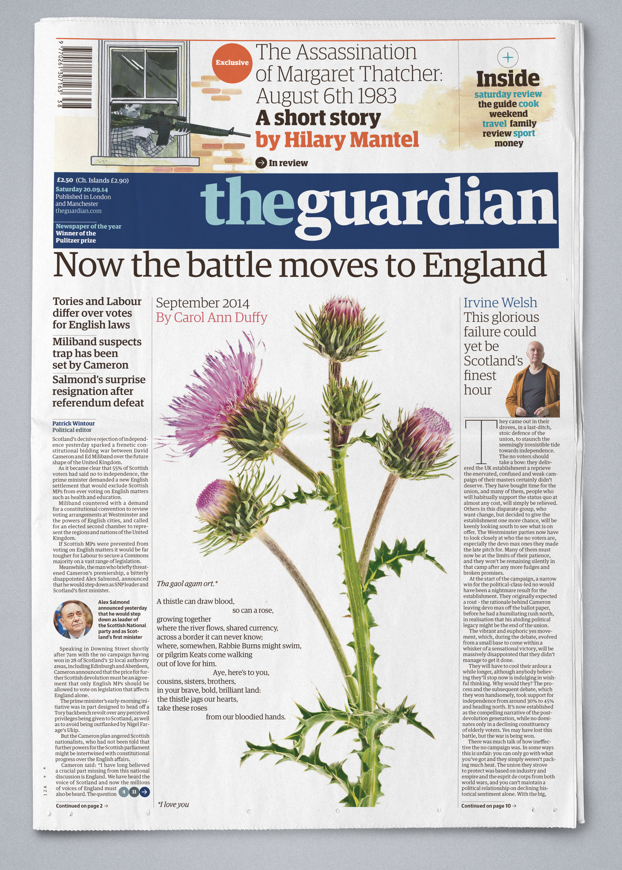 Recent cover of the Guardian
