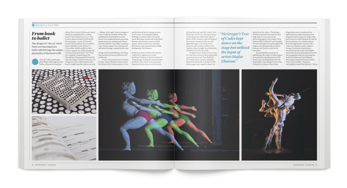 Creative Review October 2015: Sarah Snaith reviews Tree of Codes
