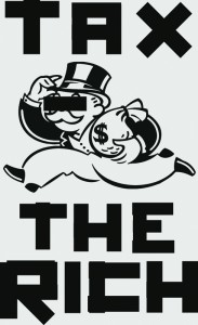 Tax the Rich poster by designer and writer John Emerson (Backspace), US, 2011
