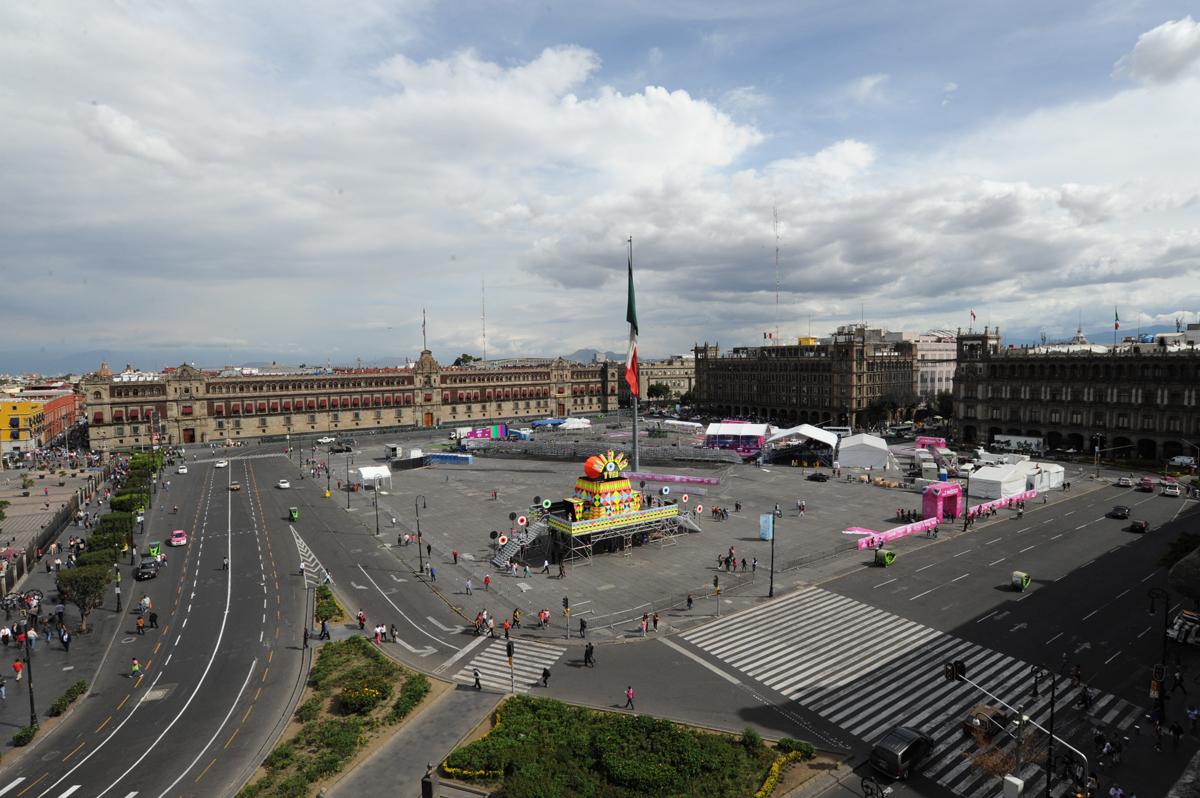 The MIRAR installation in Zocalo Square