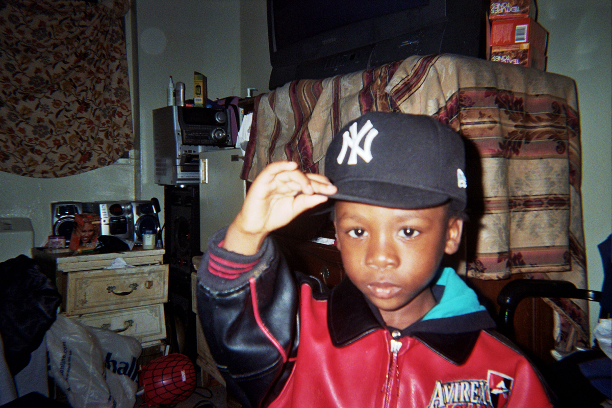 "Aaliyah Colon's cousin Jamara at Manhattanville Houses: ""I had taken a pic of my cousin Jamara. He is three and this was in my aunt's room. He was just upset and was kind of in a hurry to take his stuff off."""
