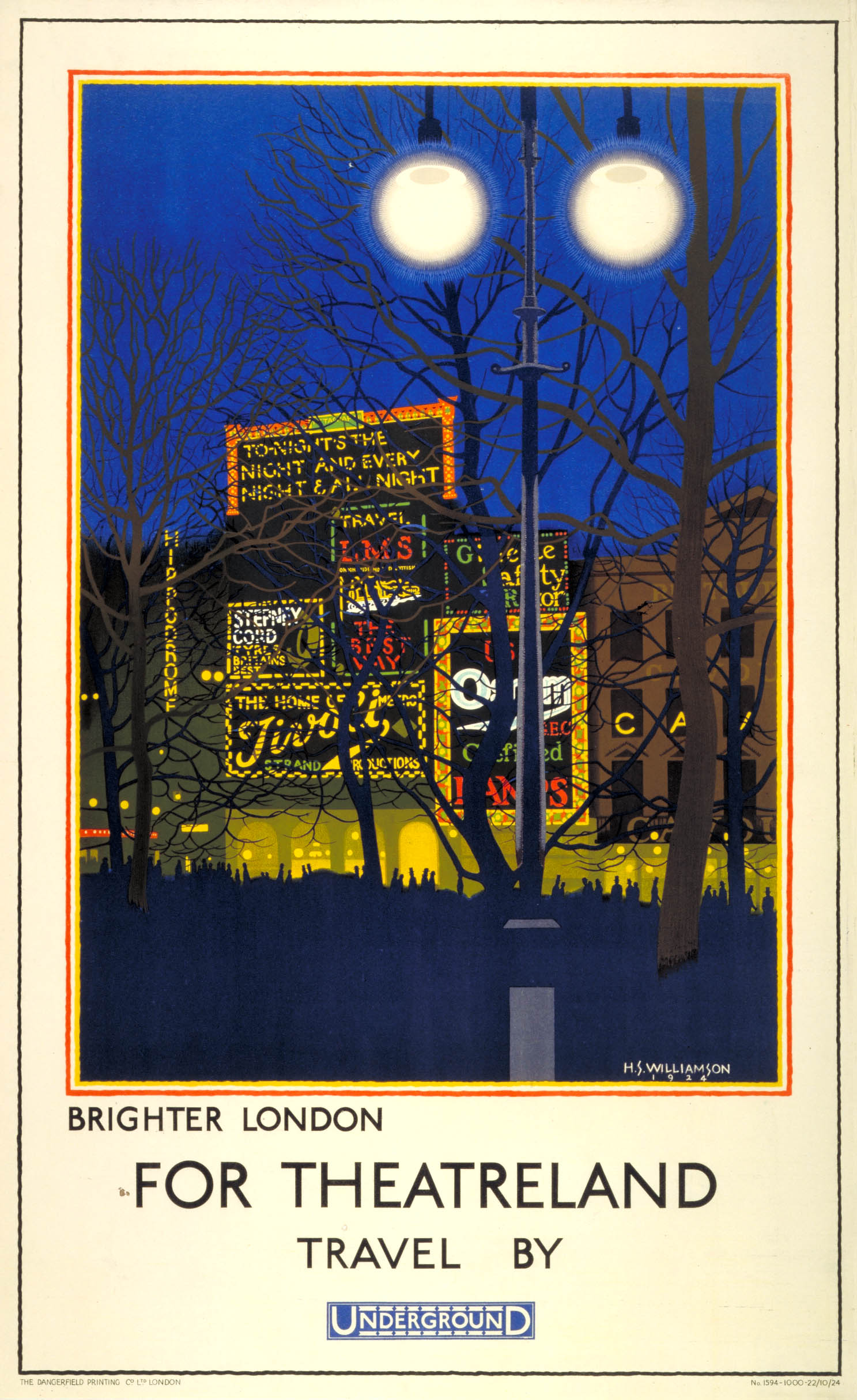 Brighter London for Theatreland by Harold Sandys Williamson, 1924