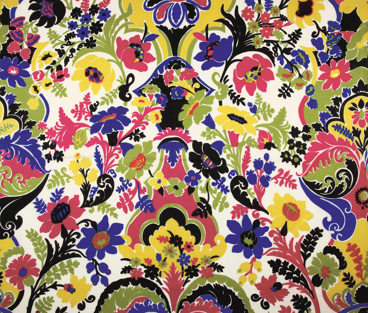 Bengal, Bernard Nevill for Liberty and Co on silk, 1969, © Liberty Fabric Limited