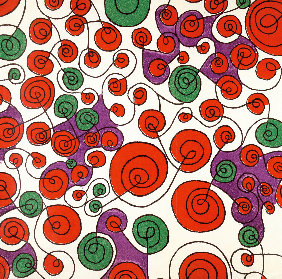 Whirlygig print, designed by Colleen Farr for Liberty & co, 1960, © Liberty Fabric Ltd