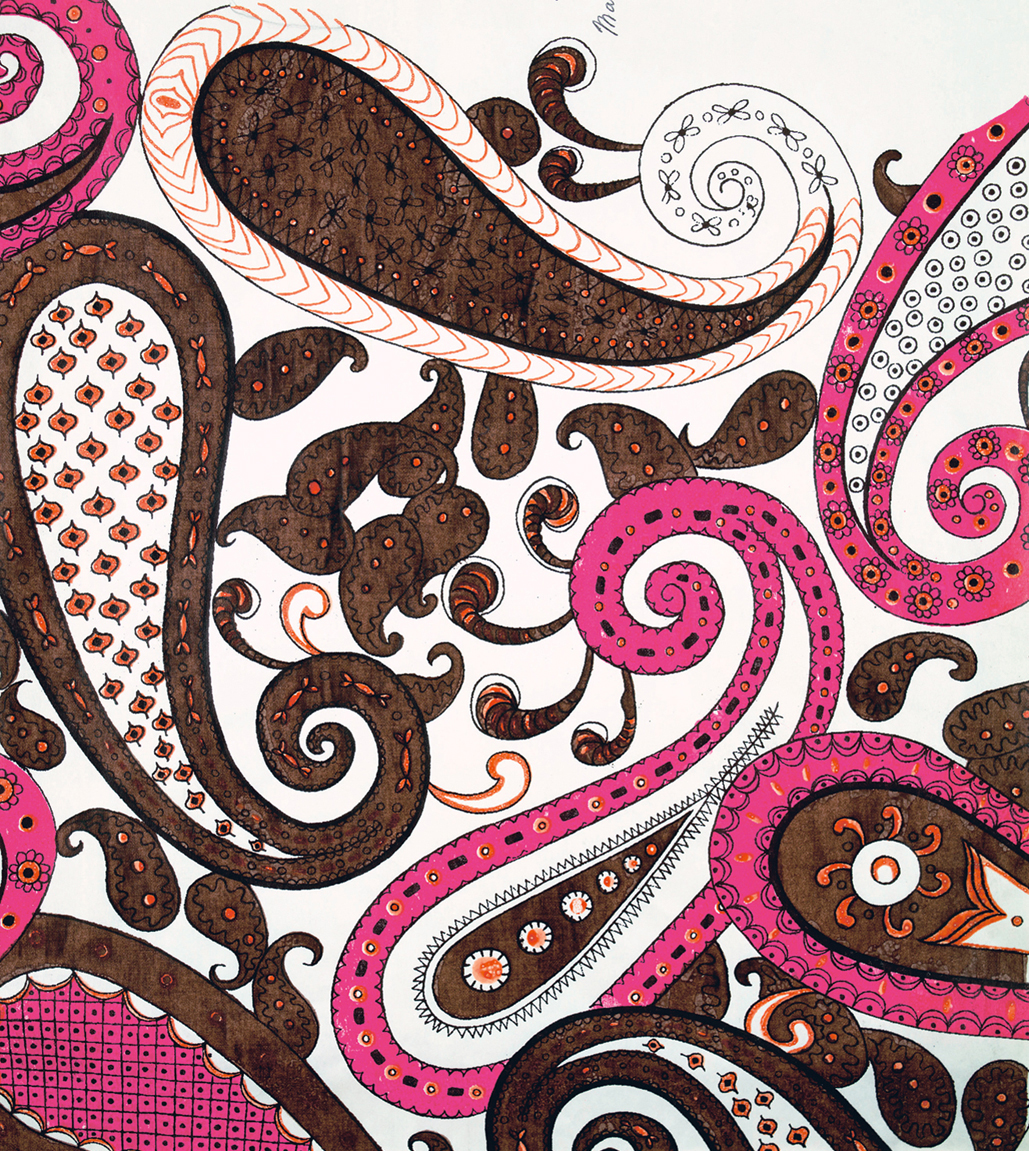 Modern Paisley Style Design by Ceraggio for Liberty, 1960, © Liberty Fabric Limited