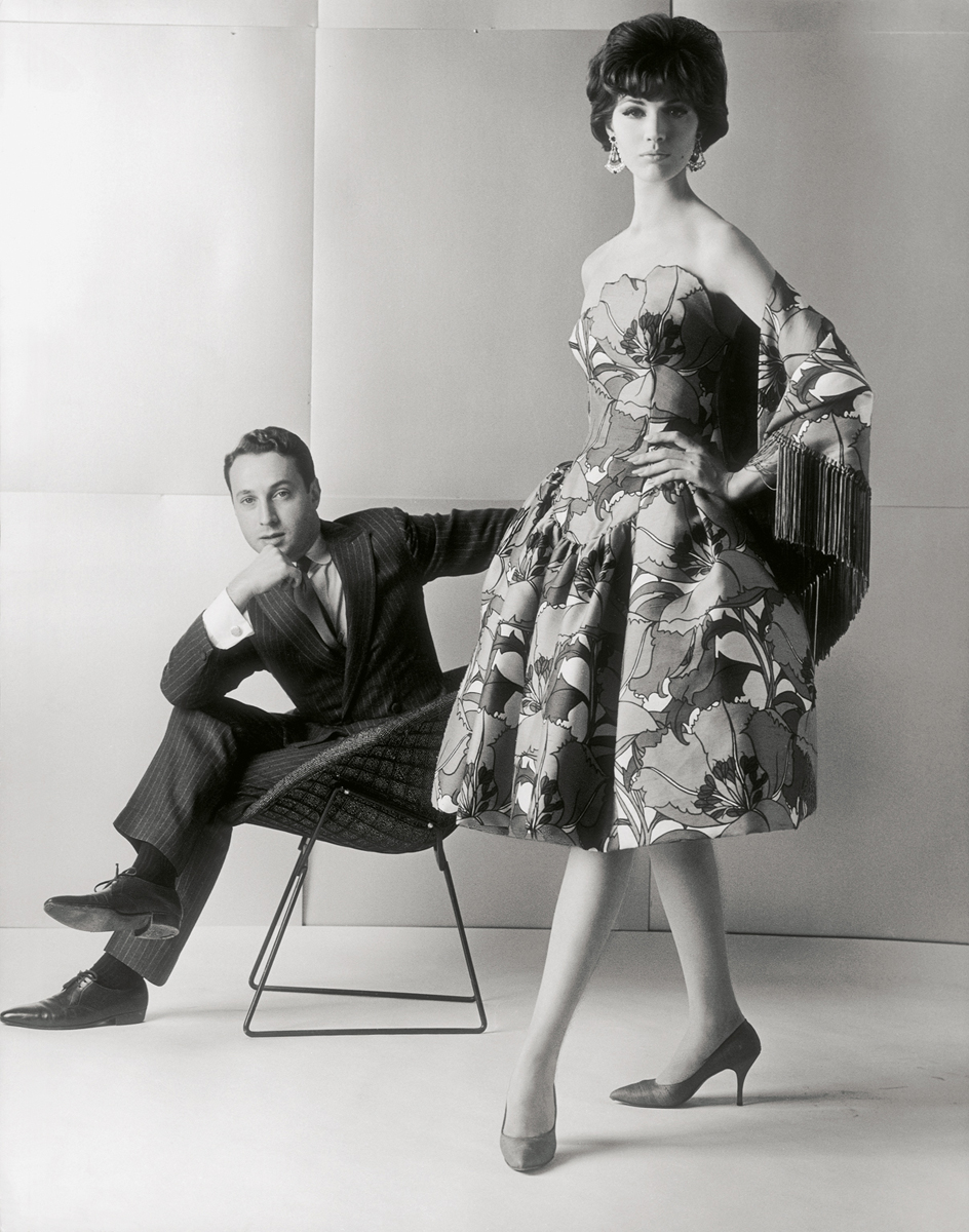 Cocktail dress by American designer Arnold Scaasi, using Liberty fabric 'Eustacia', 1961, © Fashion Museum Bath