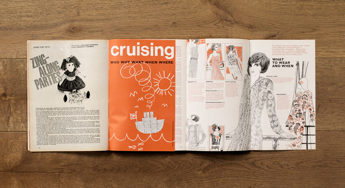 Cruising throw-out supplement, October 1964. Art direction: Jack Larkin