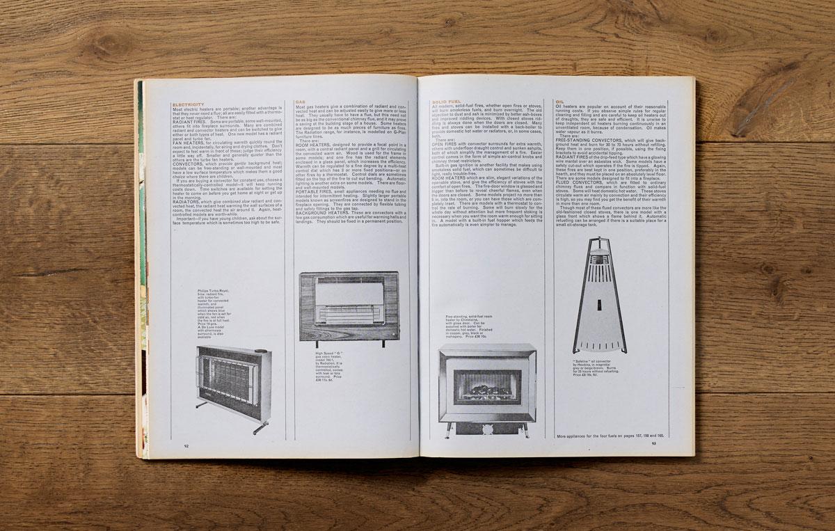 Good Housekeeping Report on Heaters, October 1964. Art direction: Jack Larkin