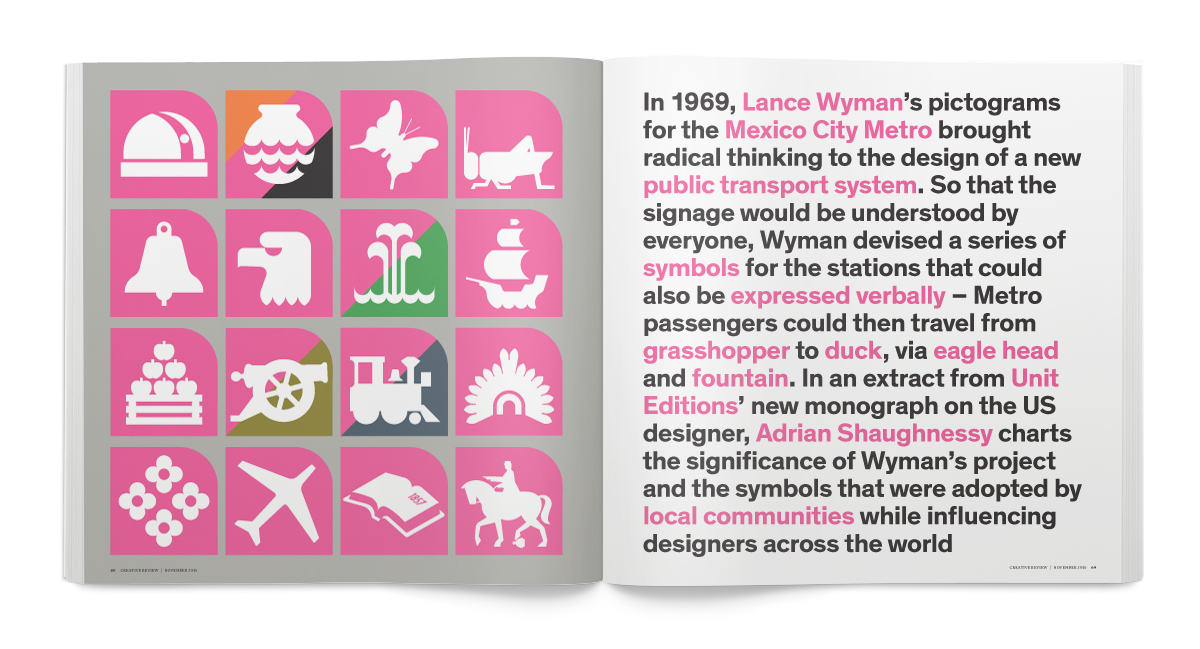 Lance Wyman's landmark wayfaring project for the Mexico City Metro