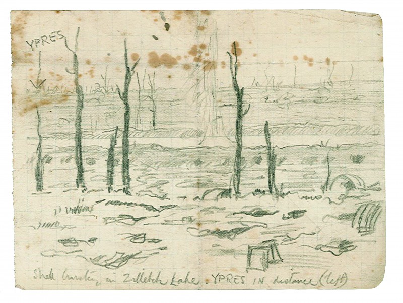 shell-bursting-in-zillebeke-lake-ypres-in-distance-left-november-1917-1