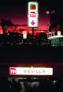 Metro signage at Sevilla station. Photo: Robin Bath