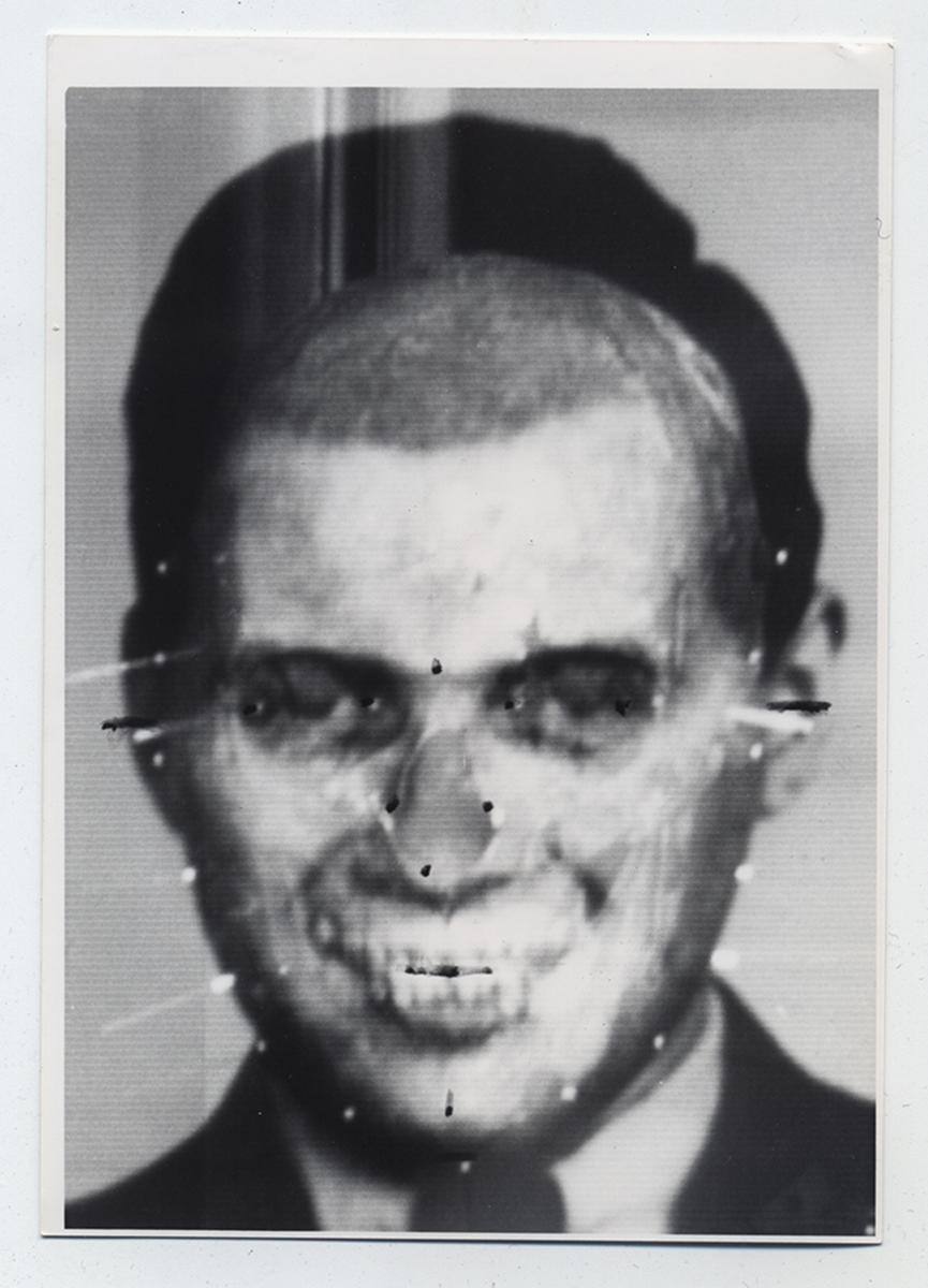 Richard Helmer's face and skull superimposition of Josef Mengele, 1985, © Richard Helmer, courtesy Maja Helmer, 1985