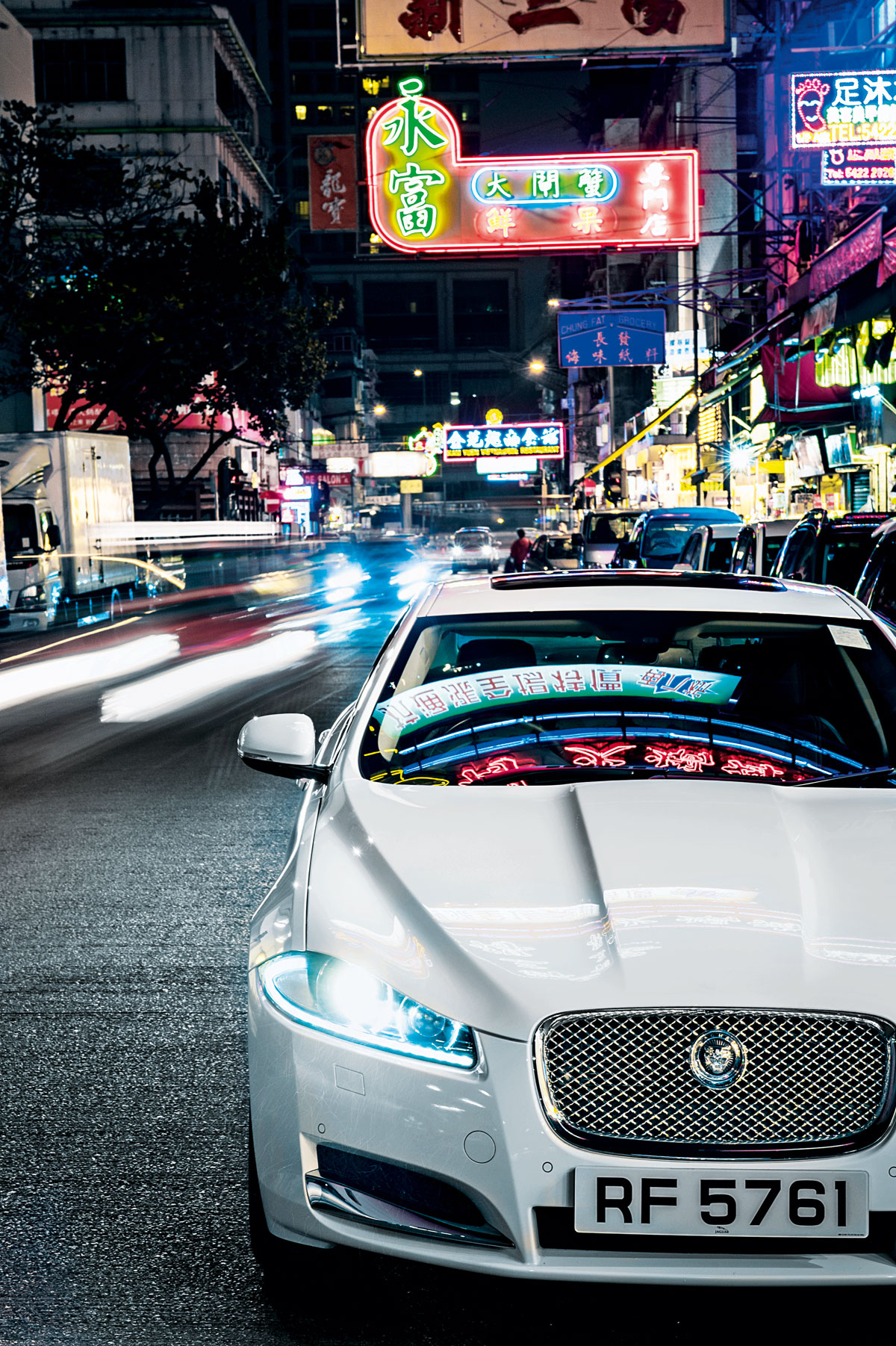 A Jaguar XF shot in Kowloon, Hong Kong, by Andrew Shaylor in 2012 for Haymarket's Jaguar Magazine (shaylorphoto.com)