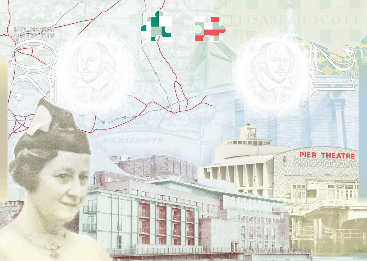 Page design from the new UK passport