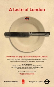 Poster for Pop-up London Transport Canteen