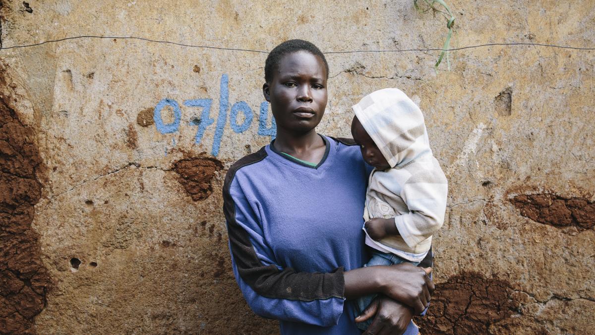 Members of the community at Kibera