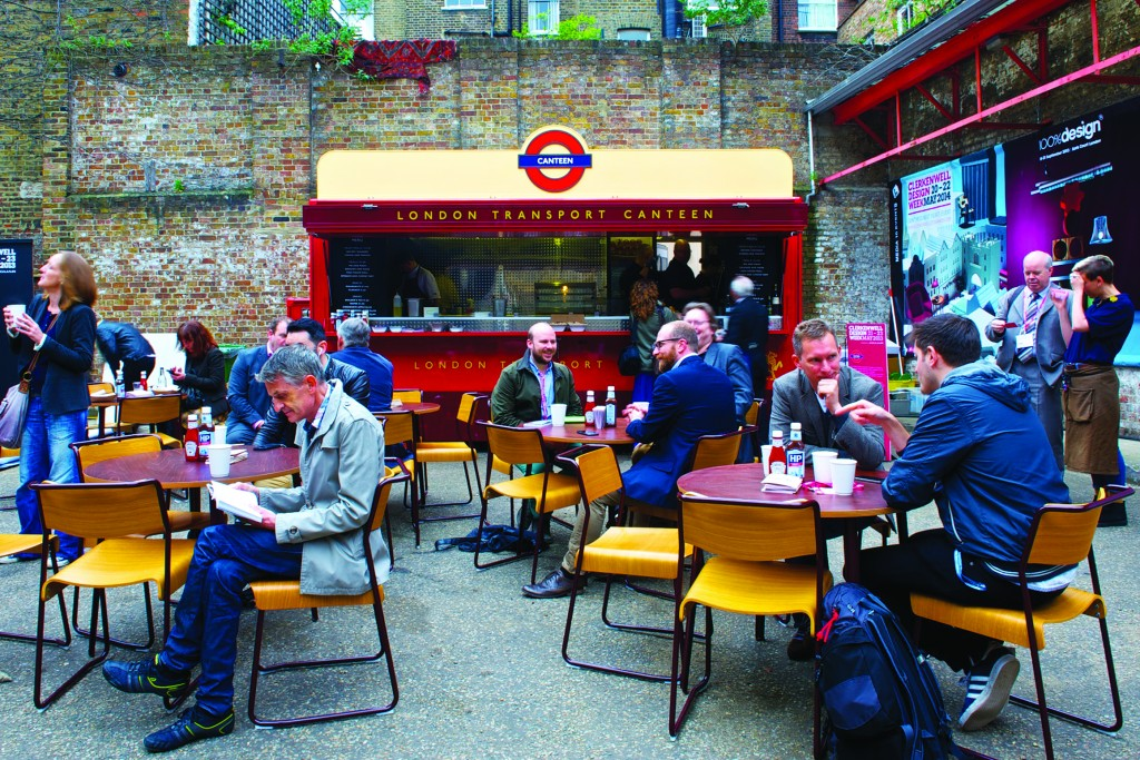 The London Transport Canteen pop-up at Clerkenwell Design Week in 2013