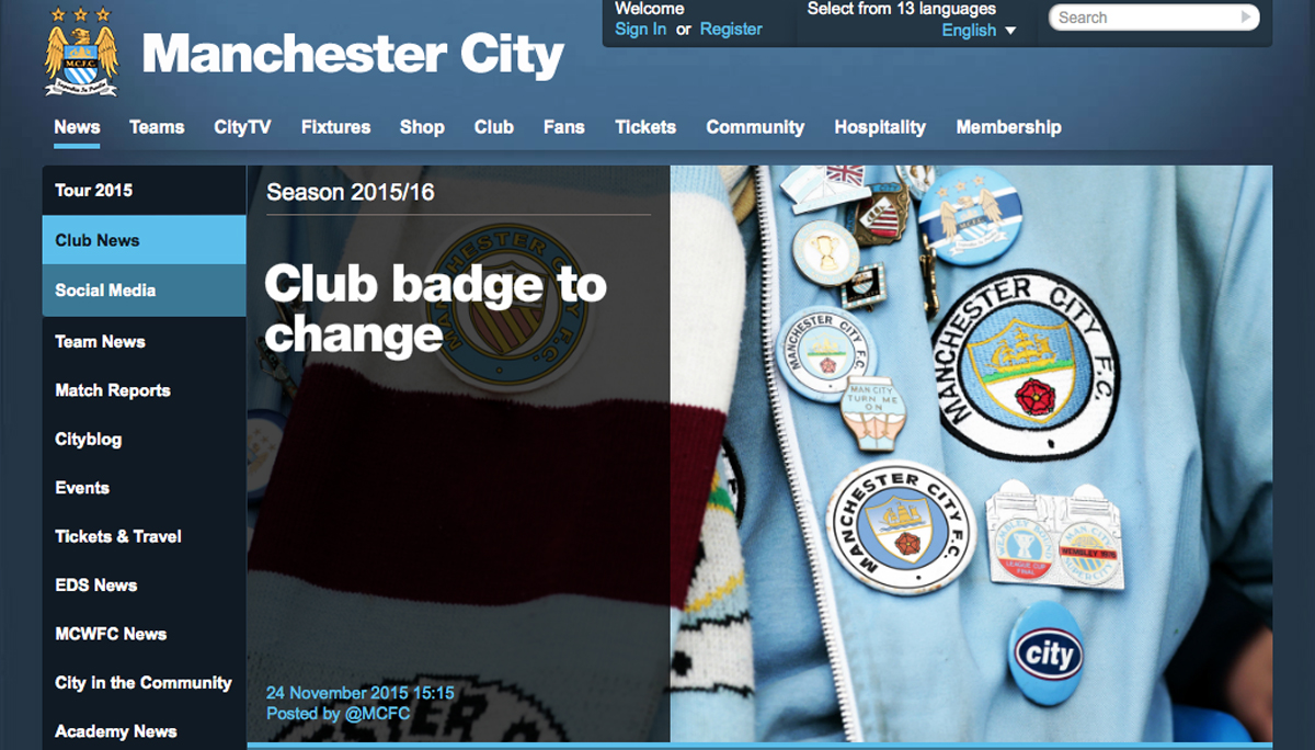 Manchester City to redesign badge following fan consultation