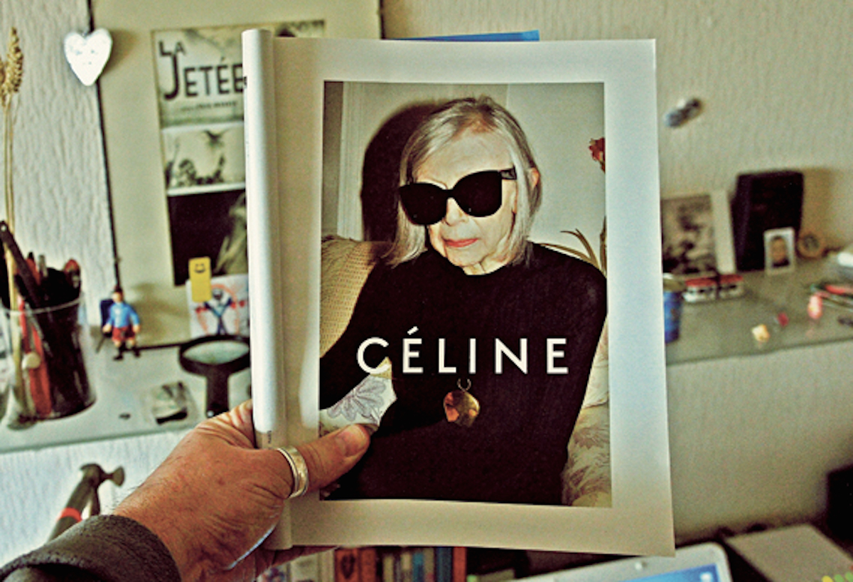 Ad showing Joan Didion for Céline (Photo: Japanese Forms)