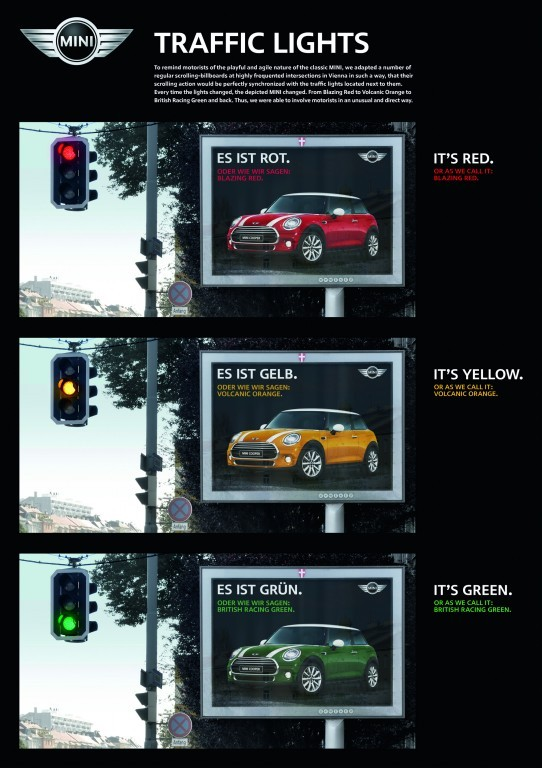 MINI outdoor campaign by Demner, Merlicek & Bergmann