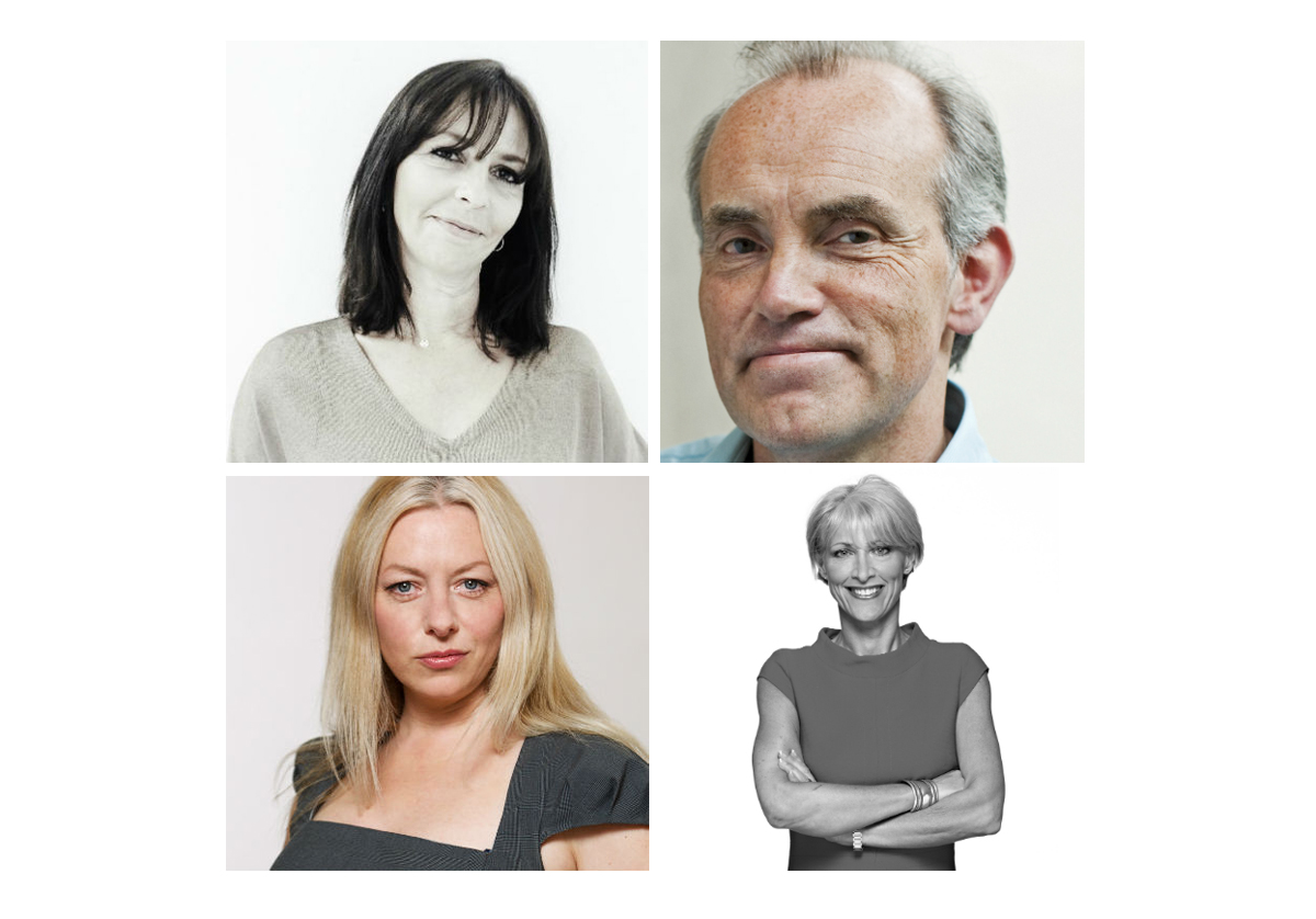 The panel (clockwise from top left): Jane Cunningham, editor of britishbeautyblogger.com; Michael Cutbill former marketing director of Saga and the AA; Rosie Arnold deputy executive creative director of BBH; ebecca Valentine, founder of Grey Model Agency