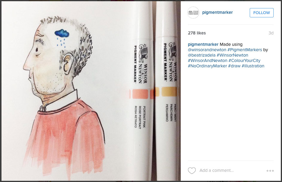 Artwork by Beatriz Adela @pigmentmarker on Instagram
