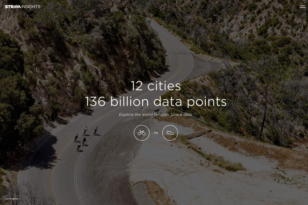 The Strava Insights platform, built with Stinkdigital