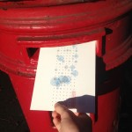 Posting one of the hand-drawn weekly postcards from the Dear Data project