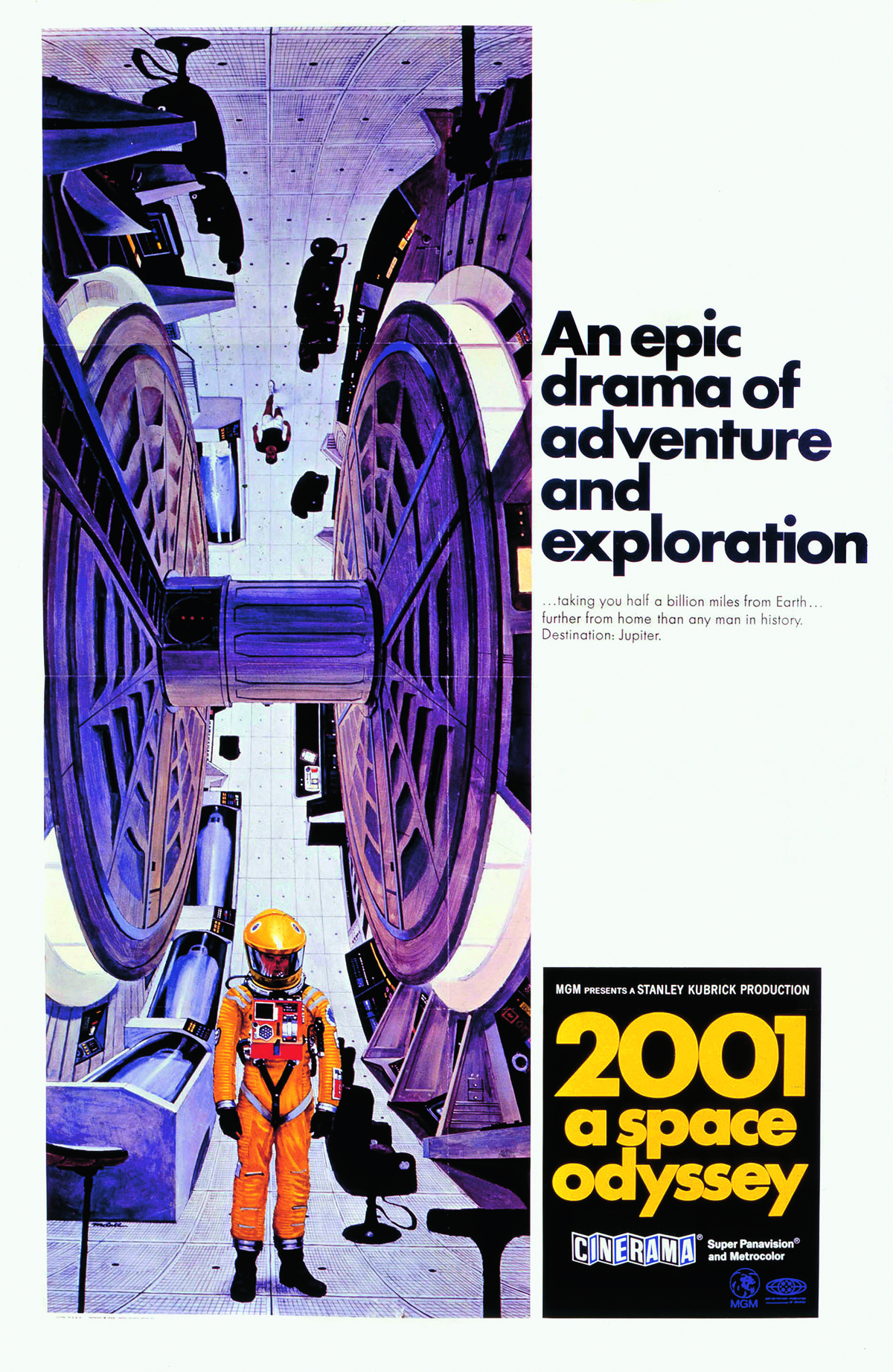 2001 A Space Odyssey poster. All images, unless otherwise captioned: courtesy of Harry Lange Archive/The Boynett Collection