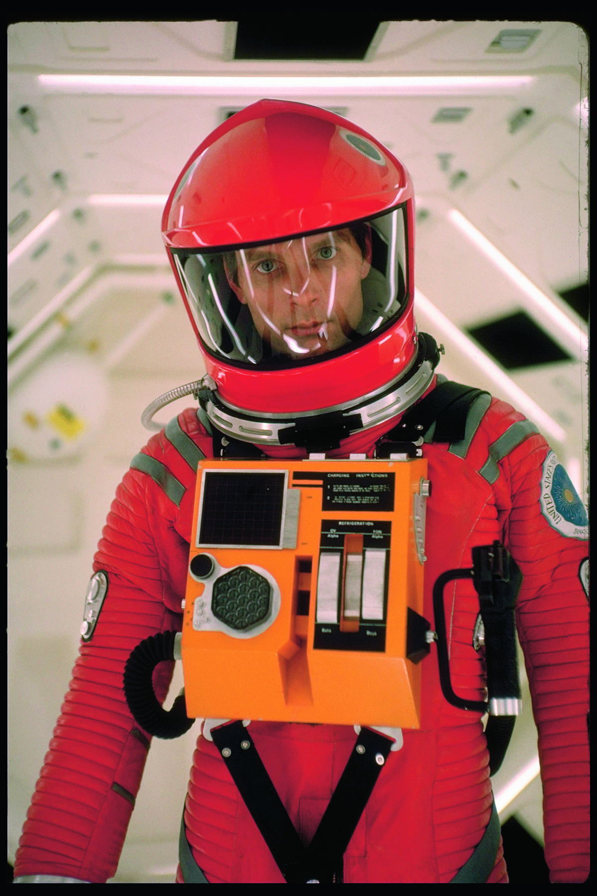 Actor Keir Dullea in space suit in scene from motion picture 2001: A Space Odyssey. (Photo by Dmitri Kessel/The LIFE Picture Collection/Getty Images)