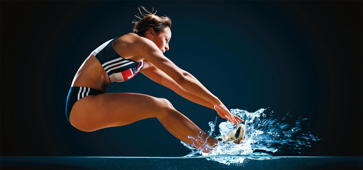 Jessica Ennis-Hill as she appears in a Aqua-Pura campaign by Pablo