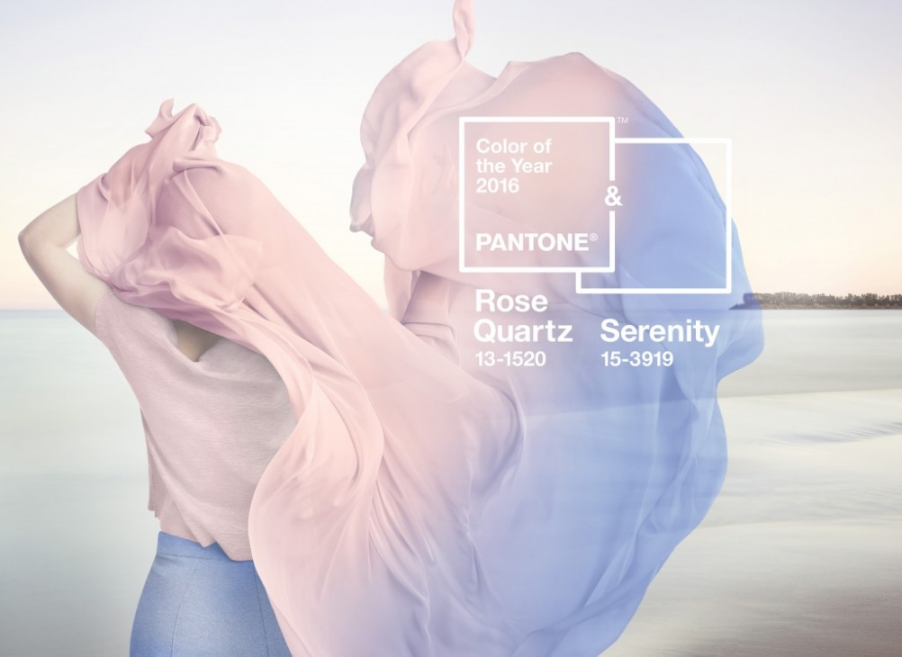 Serenity and Rose Quartz are Pantone's two Colours of the Year for 2016