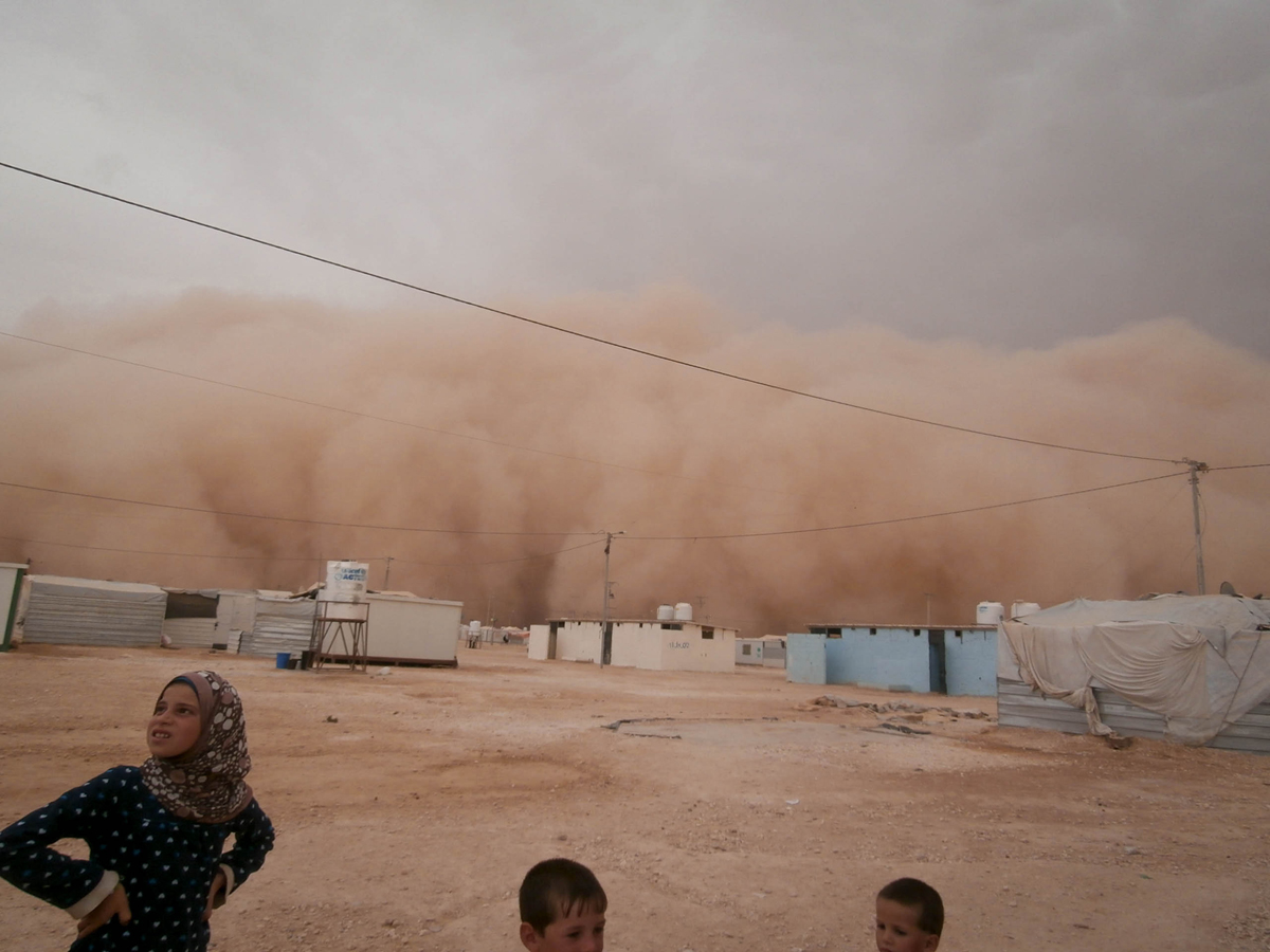 """When I saw the sand storm, I was so surprised and scared at the same time. I would have never thought that a storm could be so big. I went home and hid under my pillow"""