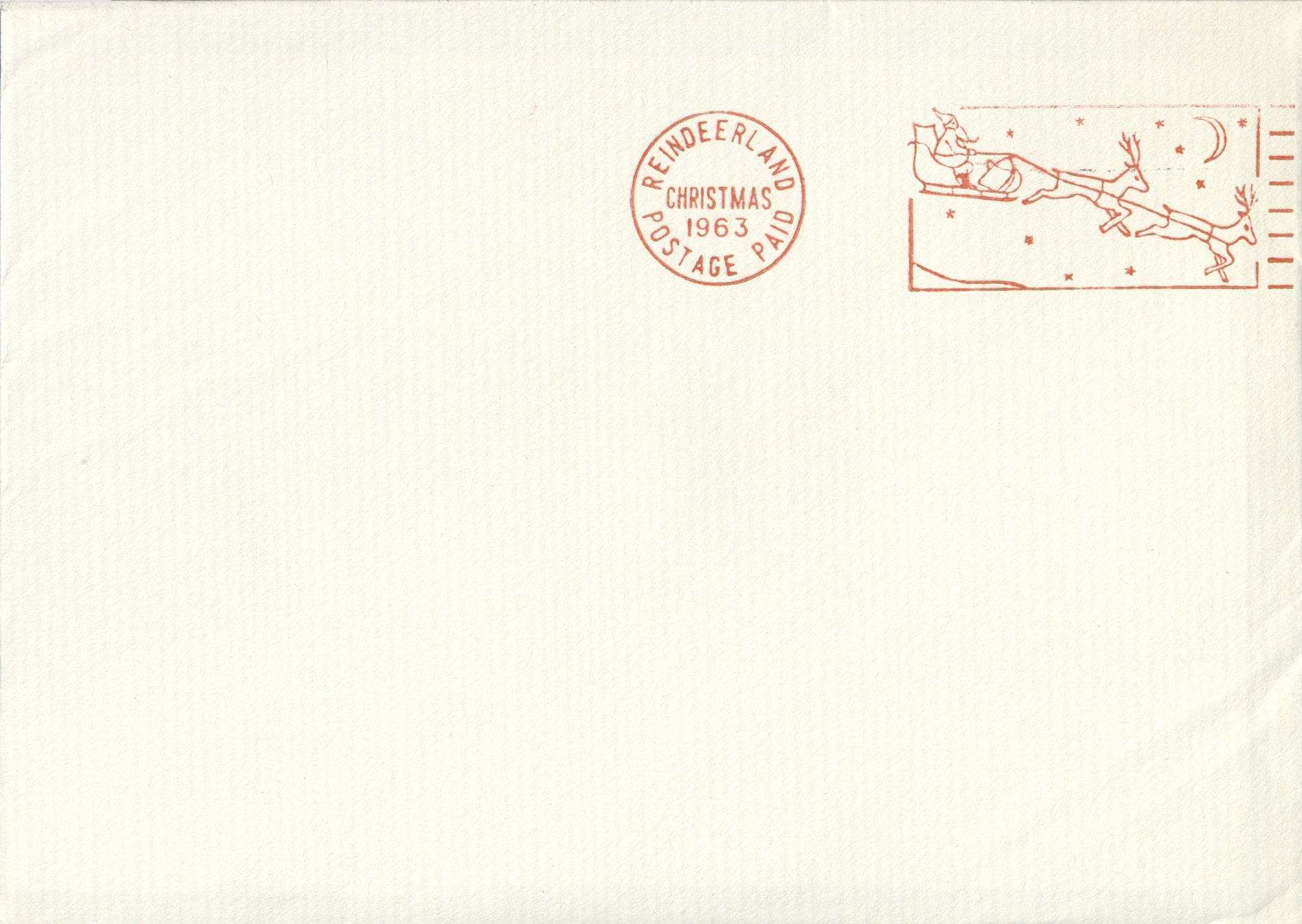 Reindeerland postmark 1963. © Royal Mail Group Ltd, courtesy of The British Postal Museum & Archive