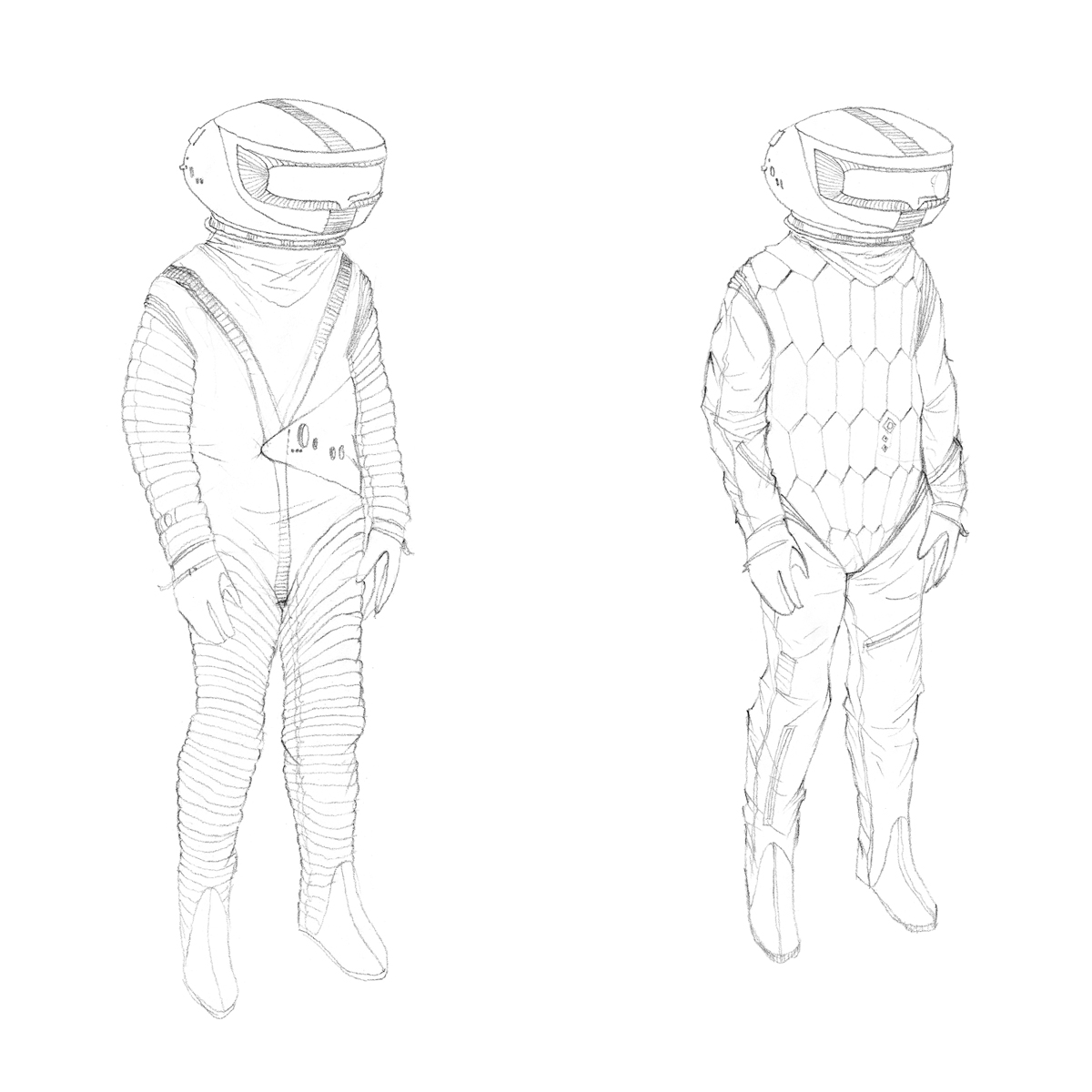 Early space suit concepts