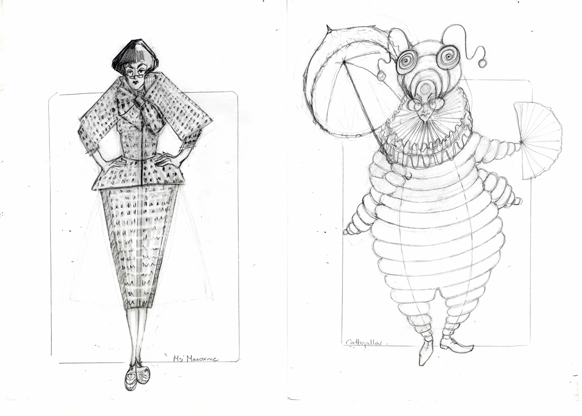 Sketches for Ms Manxome and the Catapillar