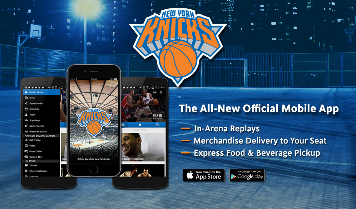 New York Knicks mobile app