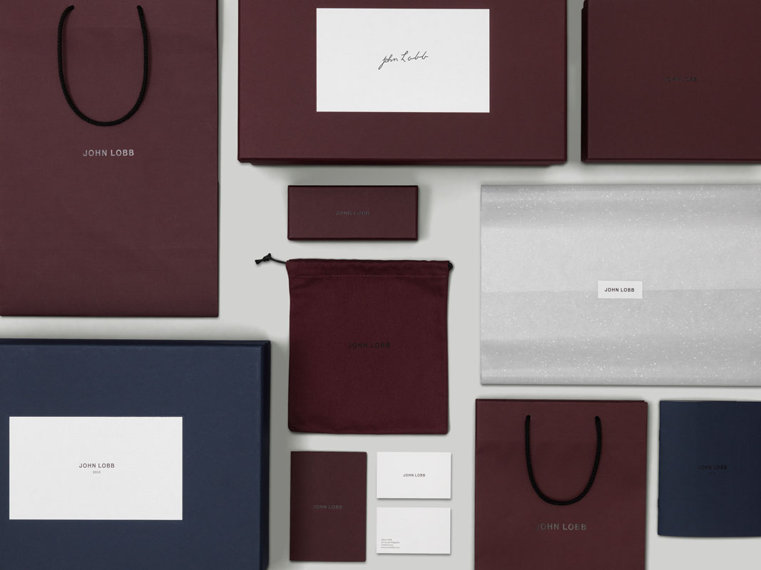 A Practice for Everyday Life's luxurious identity for bootmaker John Lobb