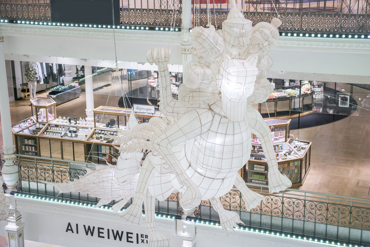 ER XI by Ai Weiwei at Bon Marché. Photo: Gabriel de la Chapelle