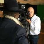 Tony Kaye filming Wilfred Emmanuel-Jones in The Black Farmer TV ad. Agency: Big Eyes