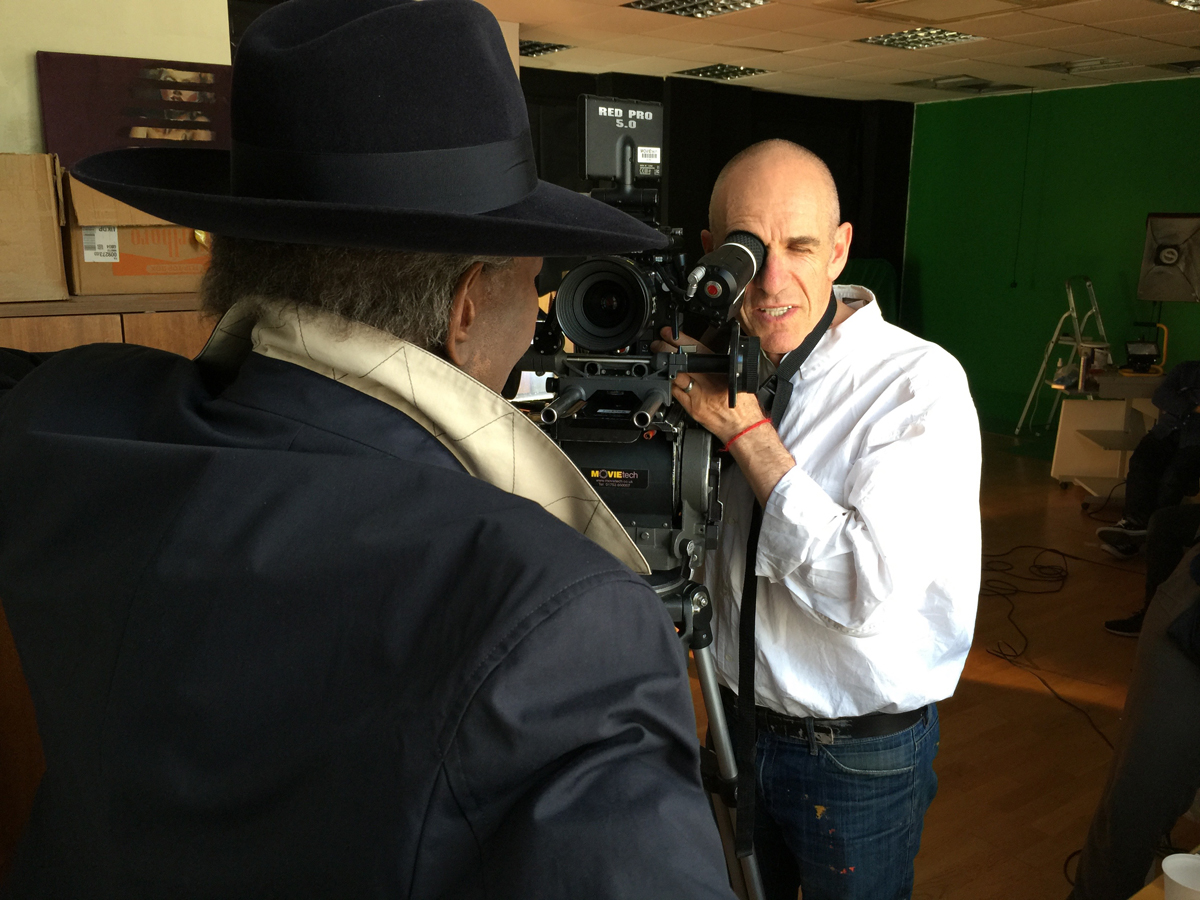 Tony Kaye filming Wilfred Emmanuel-Jones in The Black Farmer TV ad. Agency: Big Eyes