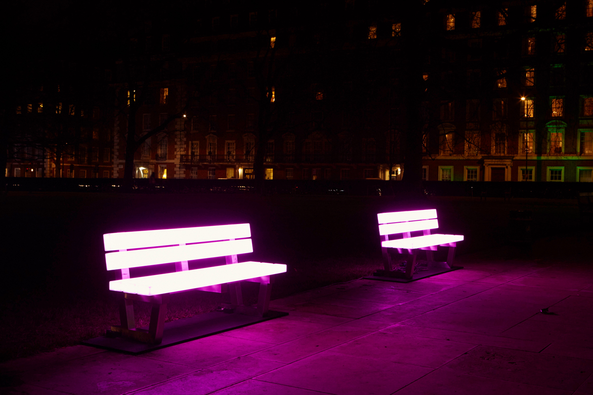 Lightbench by Bernd Spiecker for LBO-Lichtbankobjekte (Photo: Matthew Andrews)