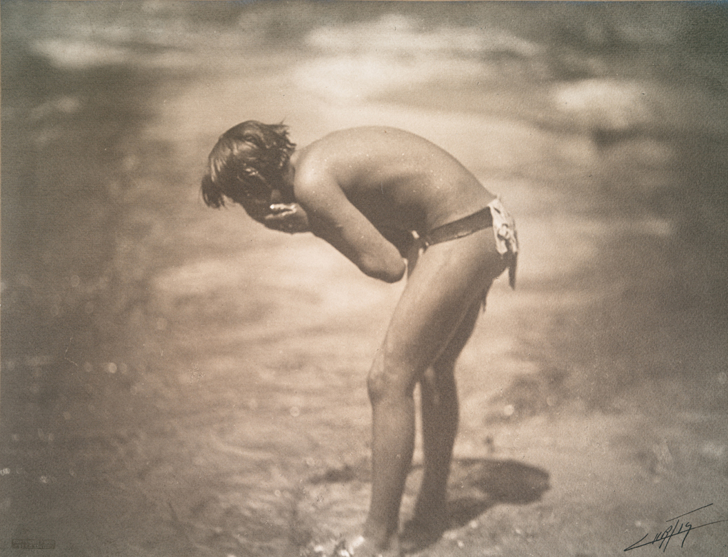 The morning bath, Apache, 1906 (Photographer: Edward S Curtis)