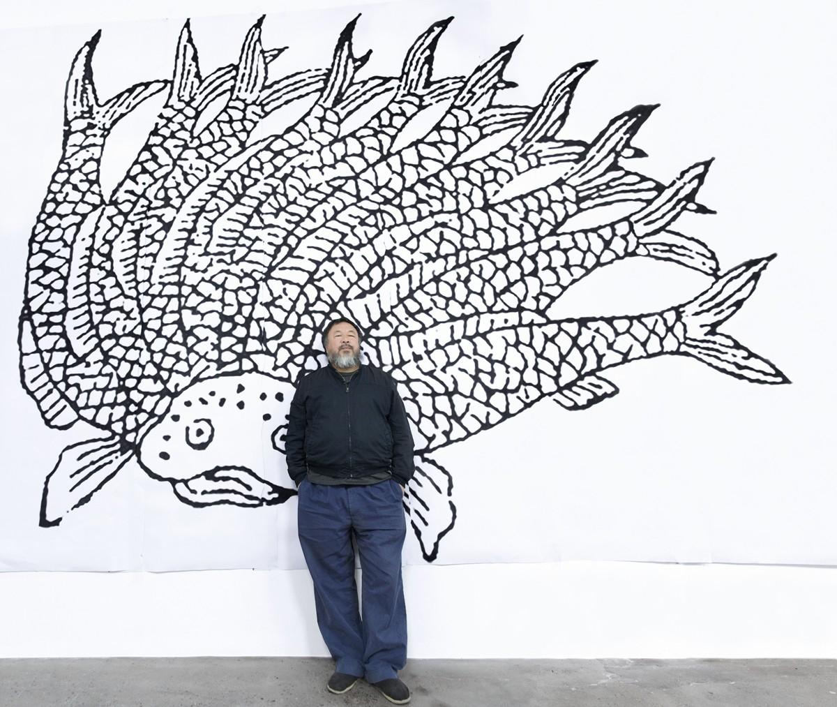 Ai Weiwei at Le Bon Marché. Photo: Quentin Labail
